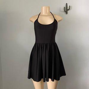 American apparel black halter top dress
